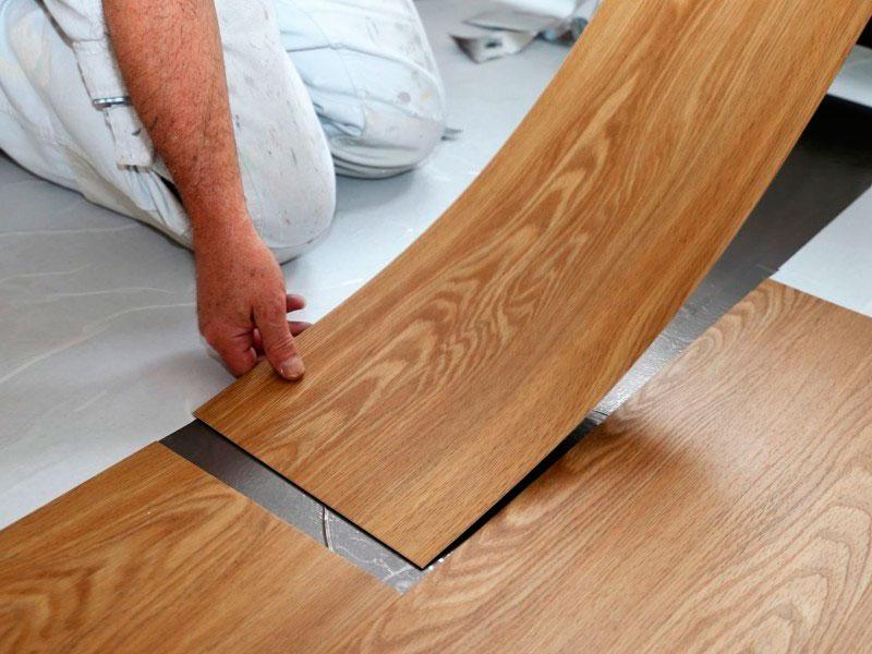Instalação de piso vinilico