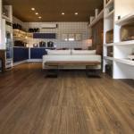 Piso laminado e carpete de madeira